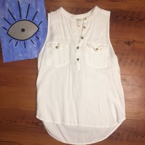 Forever21 Tank Top Blouse with Front Pockets